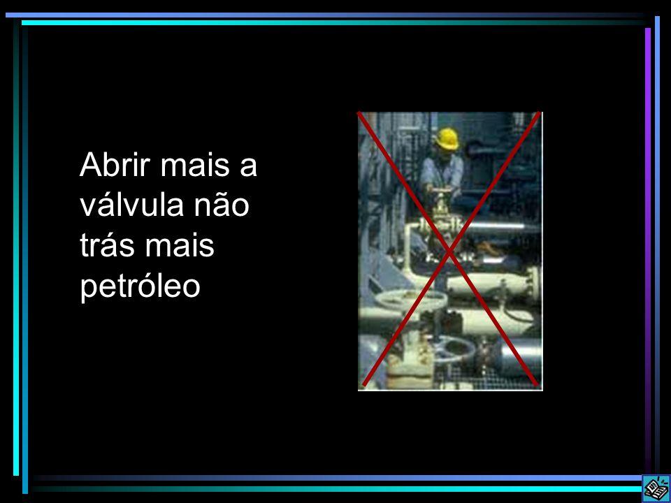 Abrir mais a válvula não trás mais petróleo