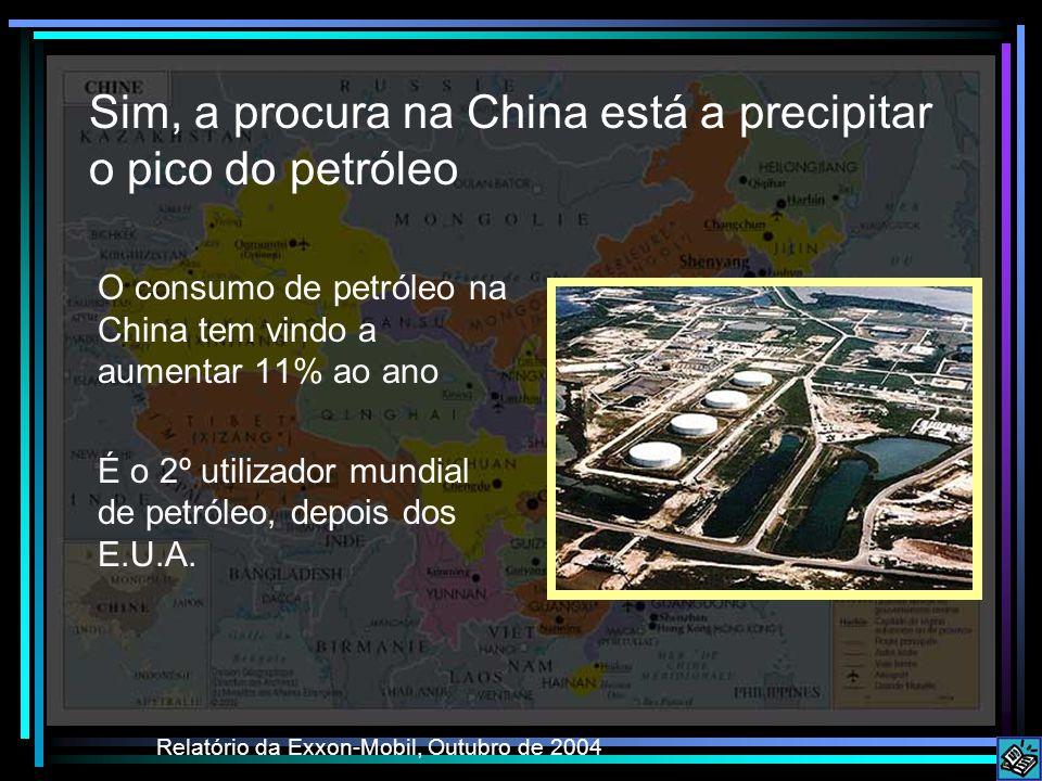 Sim, a procura na China está a precipitar o pico do petróleo