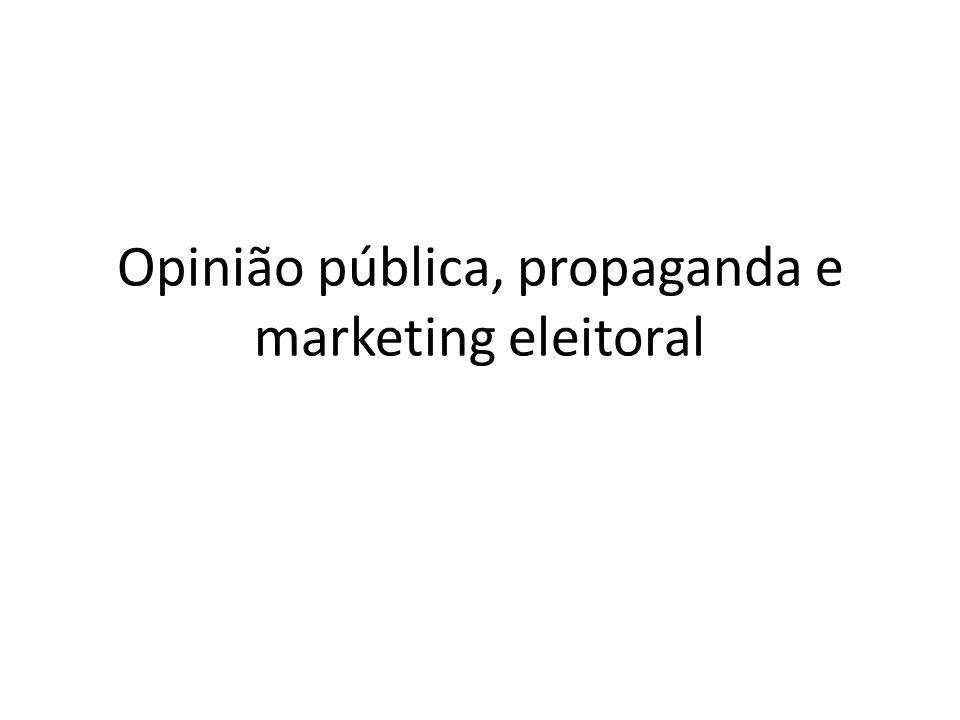 Opinião pública, propaganda e marketing eleitoral