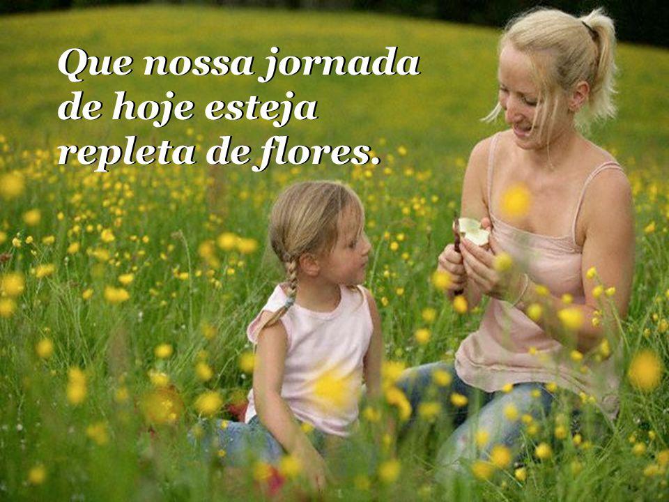 Que nossa jornada de hoje esteja repleta de flores.
