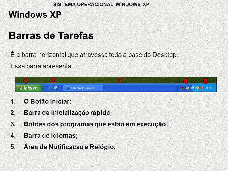 Barras de Tarefas Windows XP