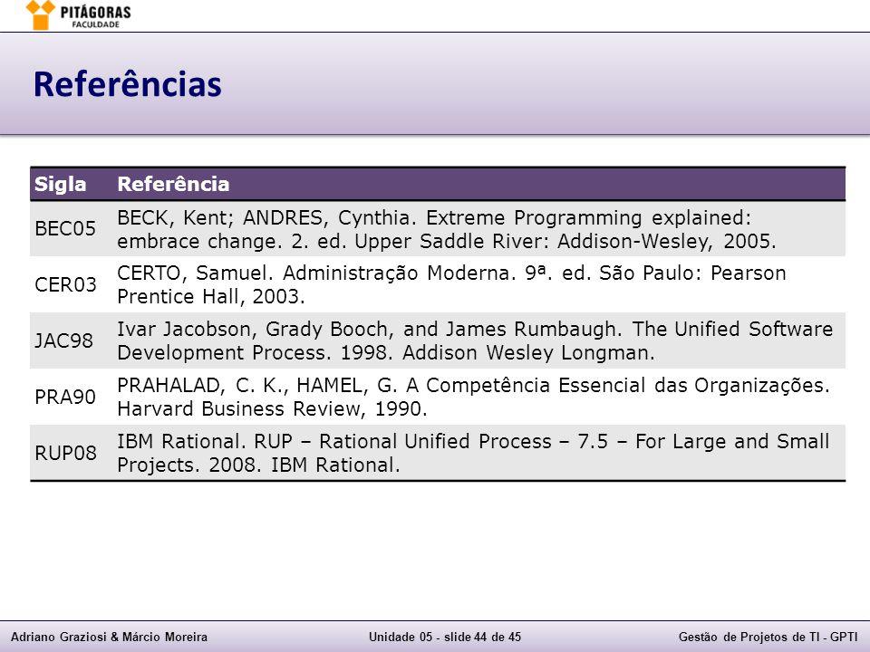 Referências Sigla Referência BEC05
