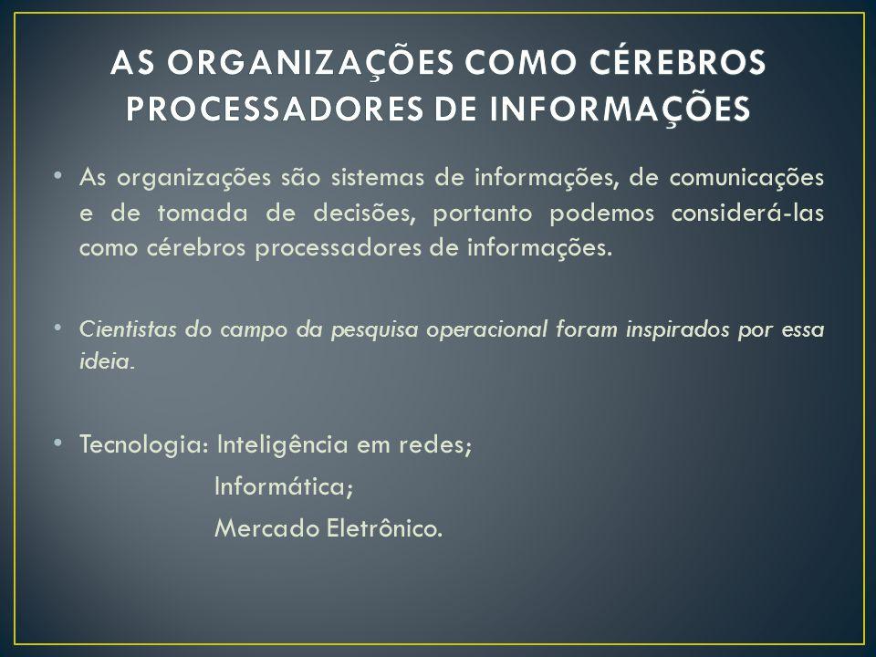 AS ORGANIZAÇÕES COMO CÉREBROS PROCESSADORES DE INFORMAÇÕES
