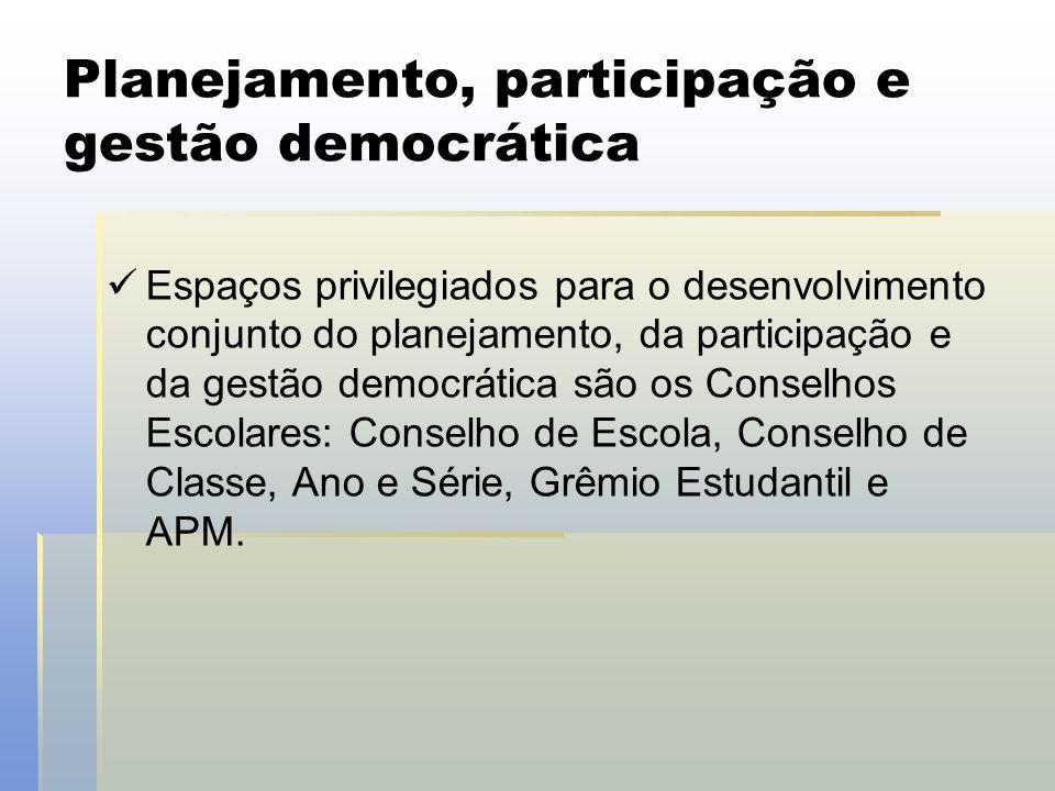 Planejamento, participação e gestão democrática