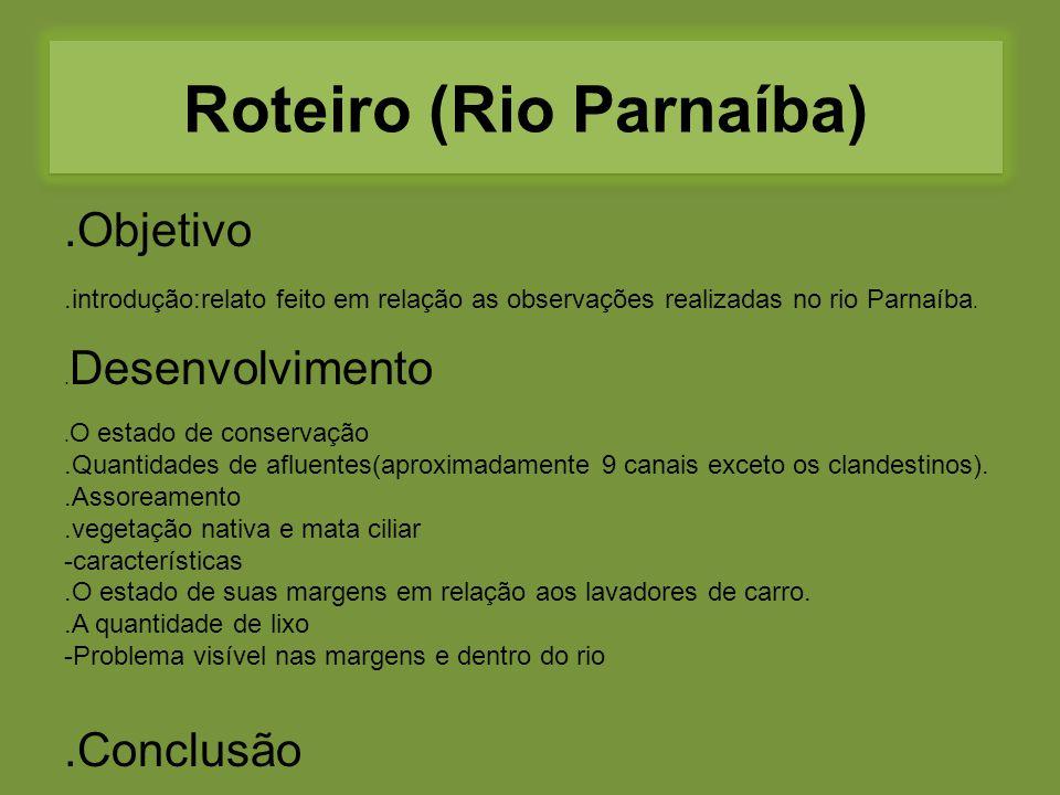 Roteiro (Rio Parnaíba)