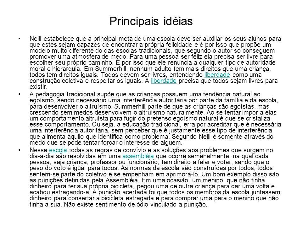 Principais idéias