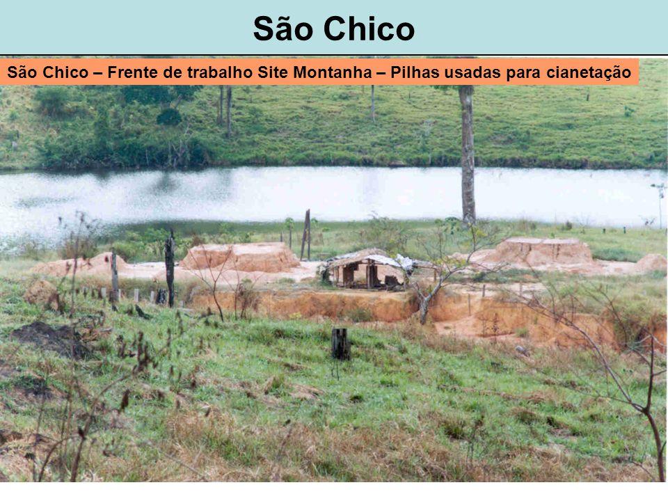 São Chico São Chico – Frente de trabalho Site Montanha – Pilhas usadas para cianetação