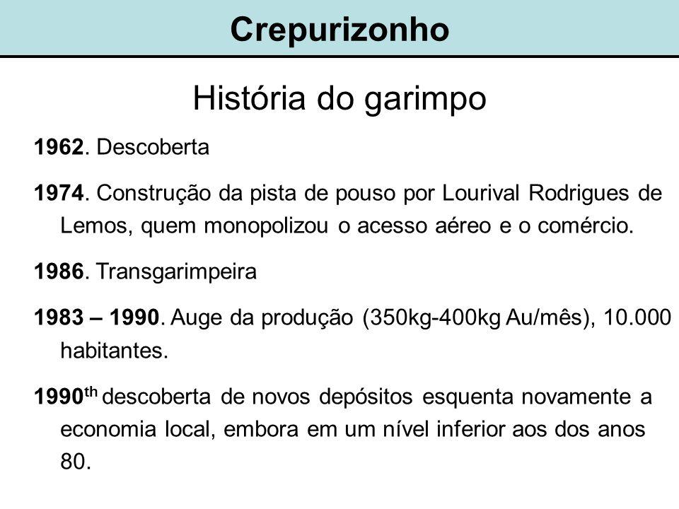 Crepurizonho História do garimpo 1962. Descoberta