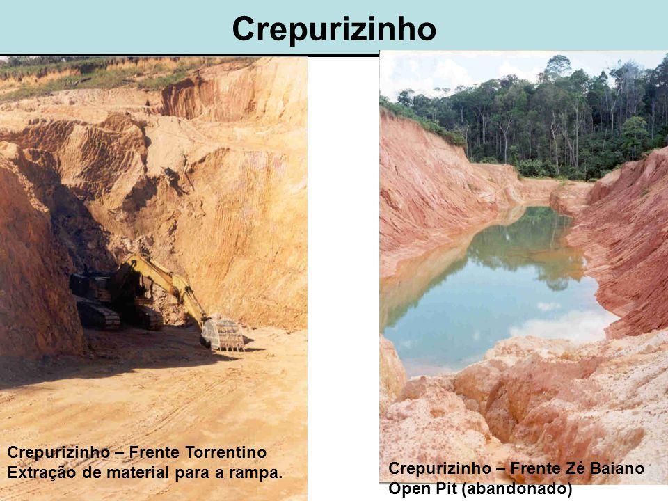 Crepurizinho Crepurizinho – Frente Torrentino Extração de material para a rampa.
