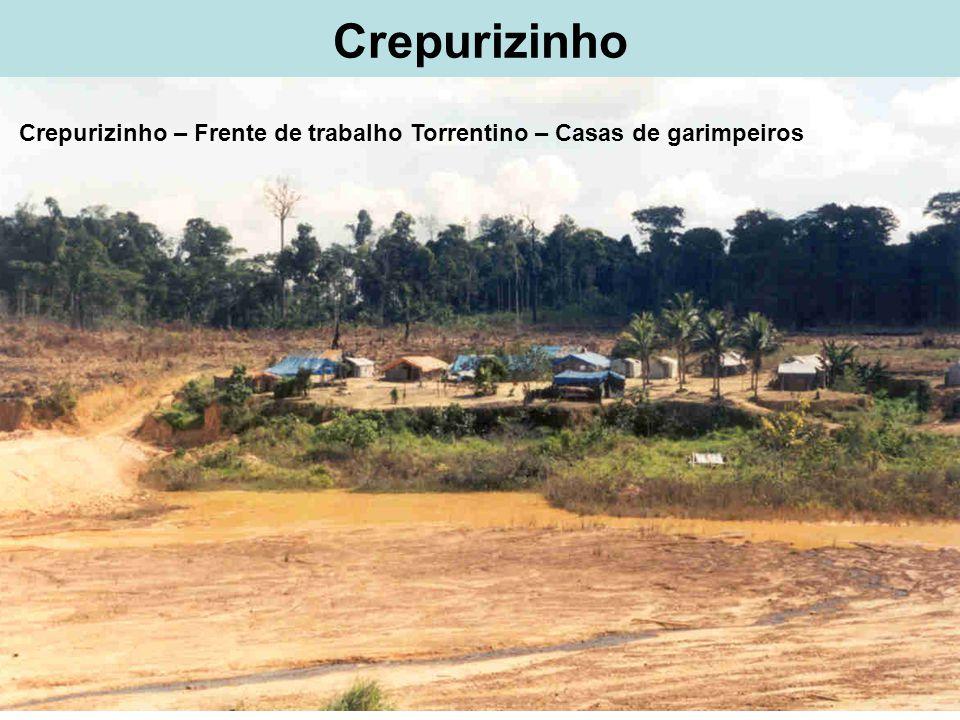 Crepurizinho Crepurizinho – Frente de trabalho Torrentino – Casas de garimpeiros
