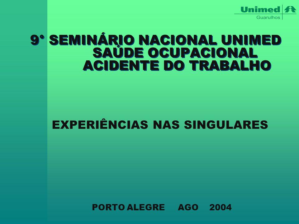 9° SEMINÁRIO NACIONAL UNIMED SAÚDE OCUPACIONAL ACIDENTE DO TRABALHO