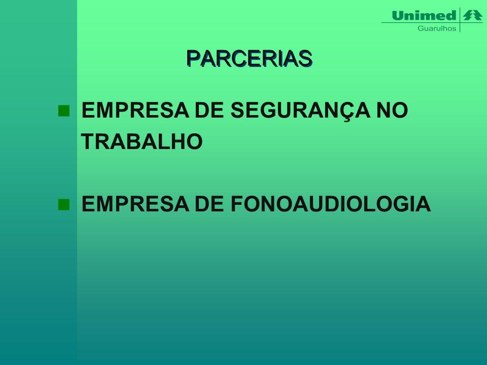 PARCERIAS EMPRESA DE SEGURANÇA NO TRABALHO EMPRESA DE FONOAUDIOLOGIA