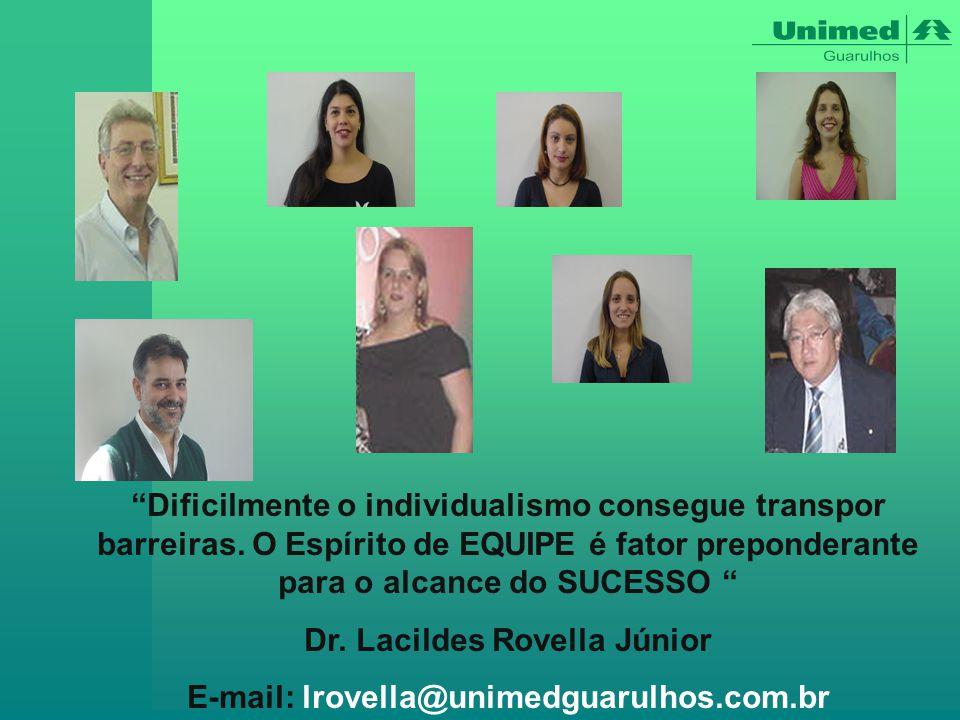 Dr. Lacildes Rovella Júnior E-mail: lrovella@unimedguarulhos.com.br