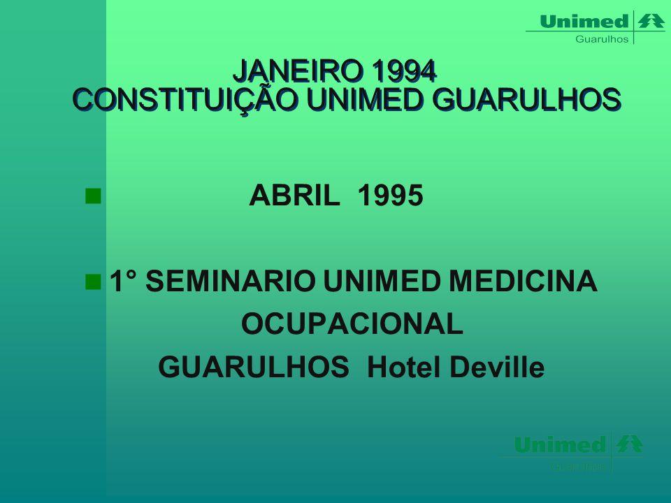 JANEIRO 1994 CONSTITUIÇÃO UNIMED GUARULHOS