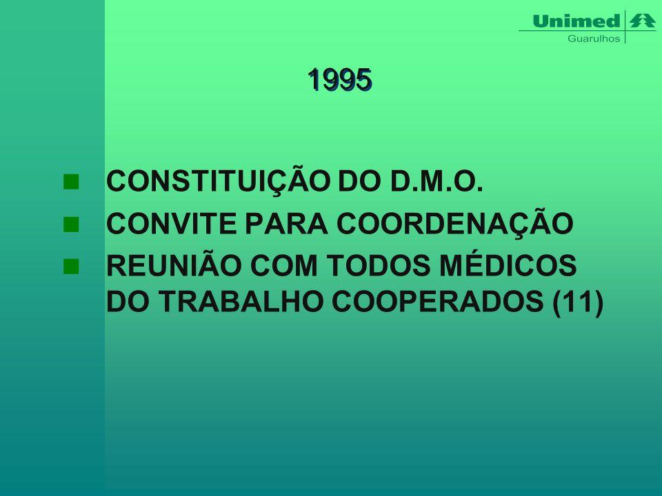 1995 CONSTITUIÇÃO DO D.M.O. CONVITE PARA COORDENAÇÃO.