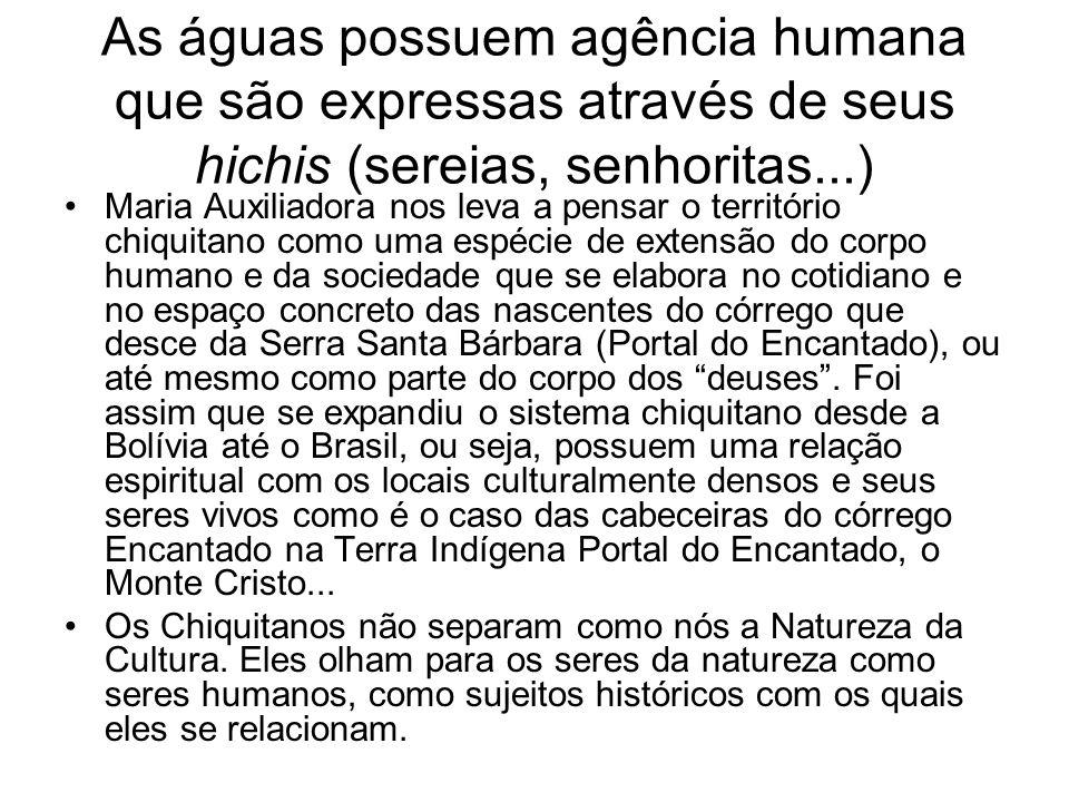 As águas possuem agência humana que são expressas através de seus hichis (sereias, senhoritas...)