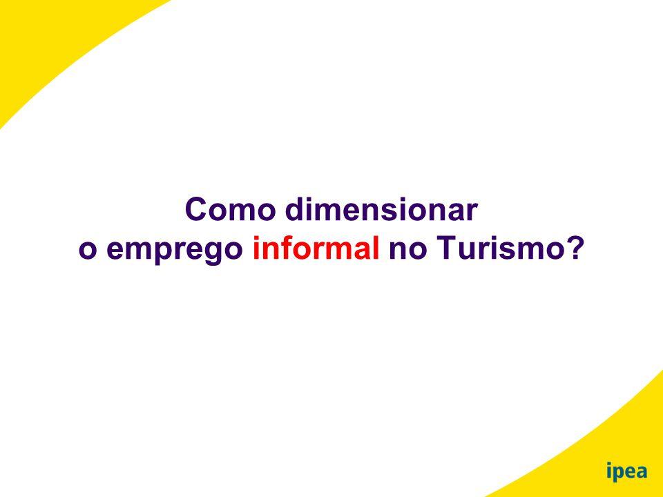 o emprego informal no Turismo
