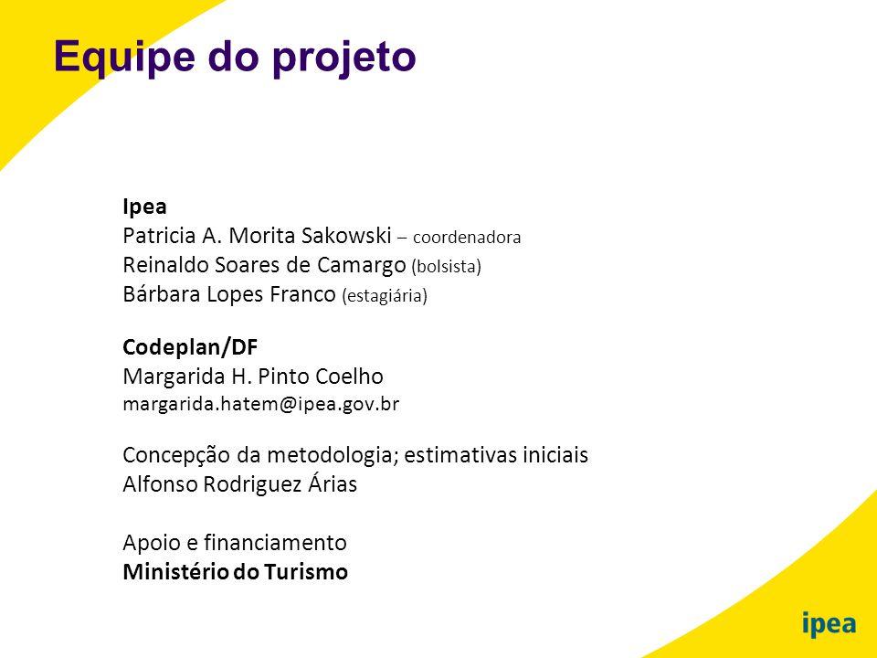 Equipe do projeto Ipea Patricia A. Morita Sakowski – coordenadora