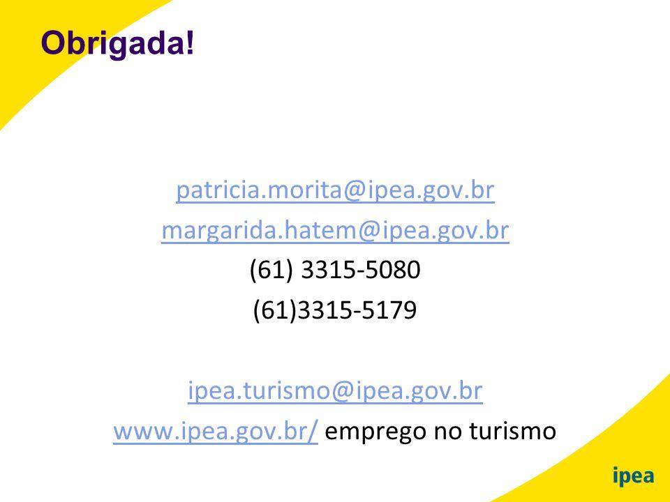 www.ipea.gov.br/ emprego no turismo