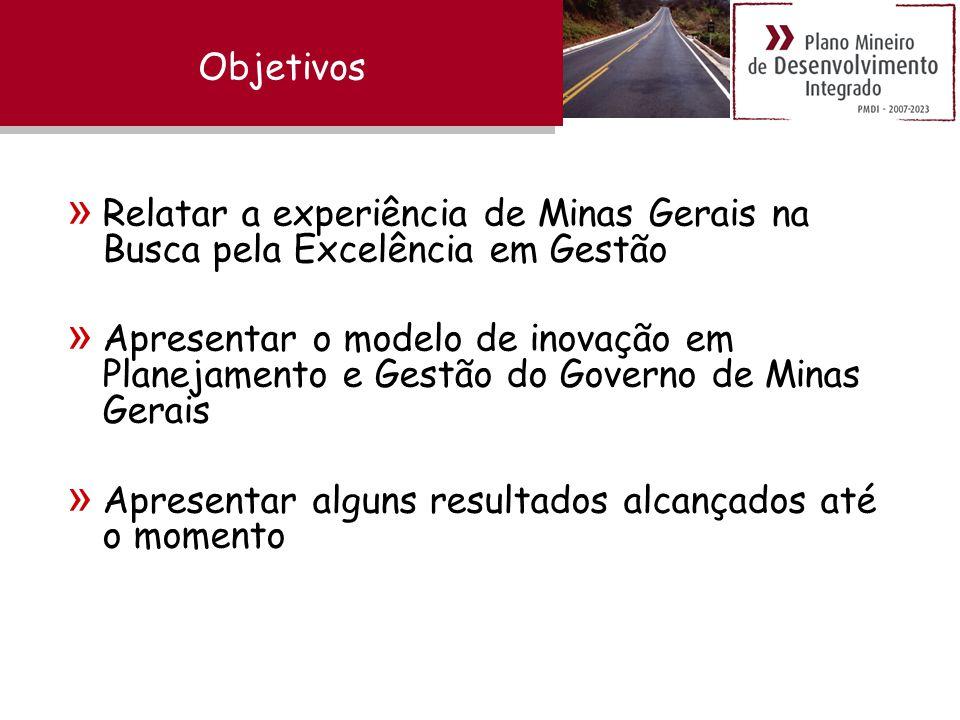 Objetivos Relatar a experiência de Minas Gerais na Busca pela Excelência em Gestão.