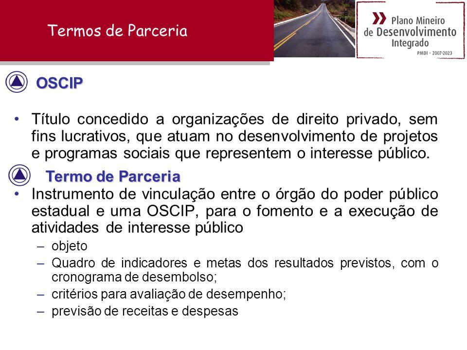 Termos de Parceria OSCIP