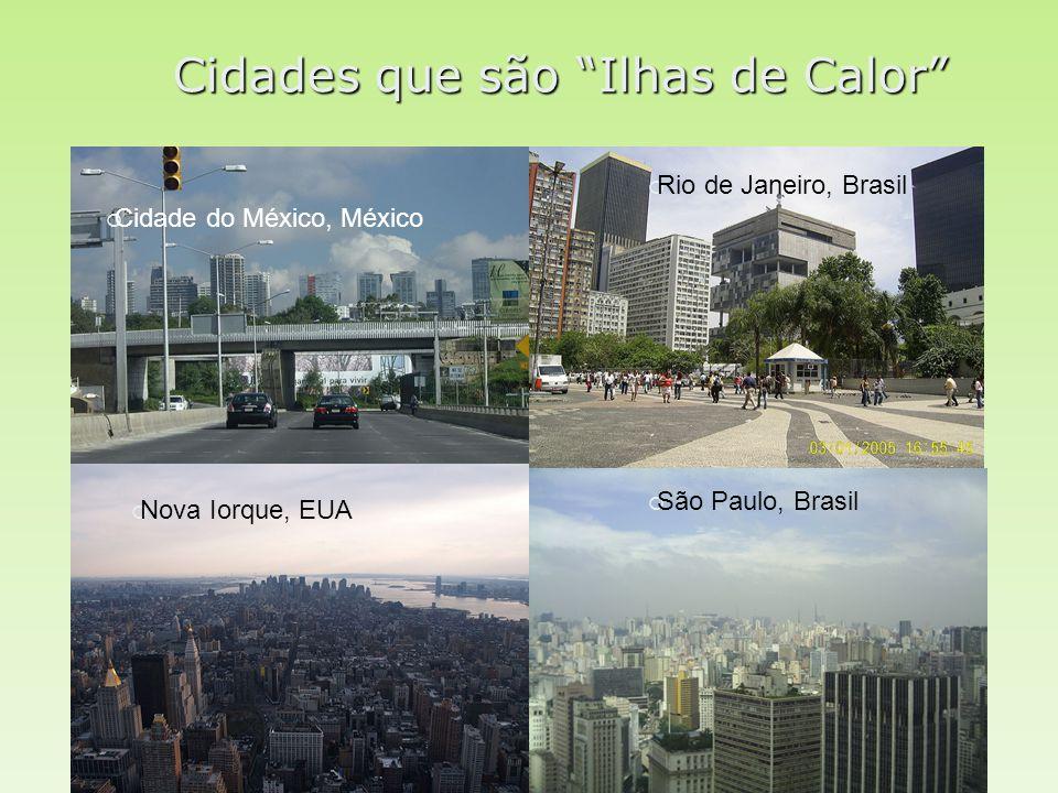 Cidades que são Ilhas de Calor