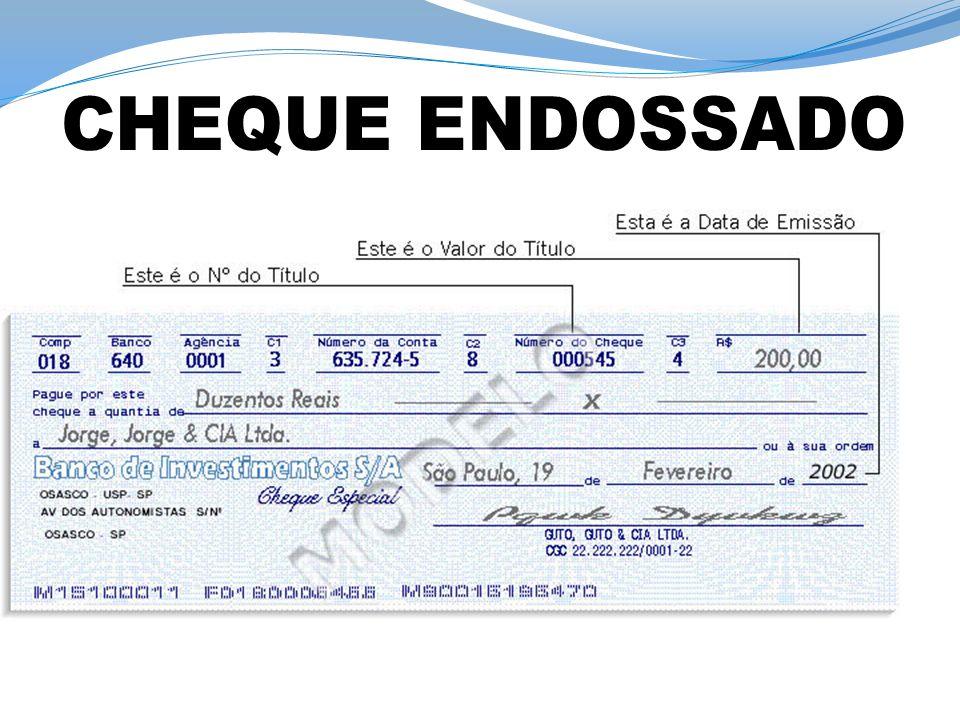 CHEQUE ENDOSSADO