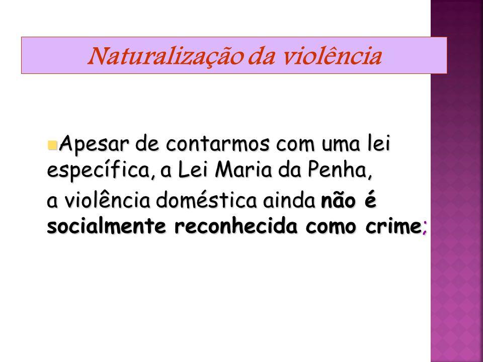 Naturalização da violência