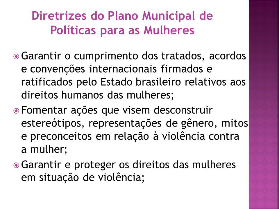 Diretrizes do Plano Municipal de Políticas para as Mulheres