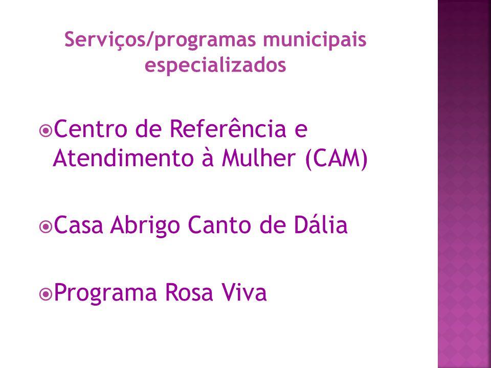 Serviços/programas municipais especializados
