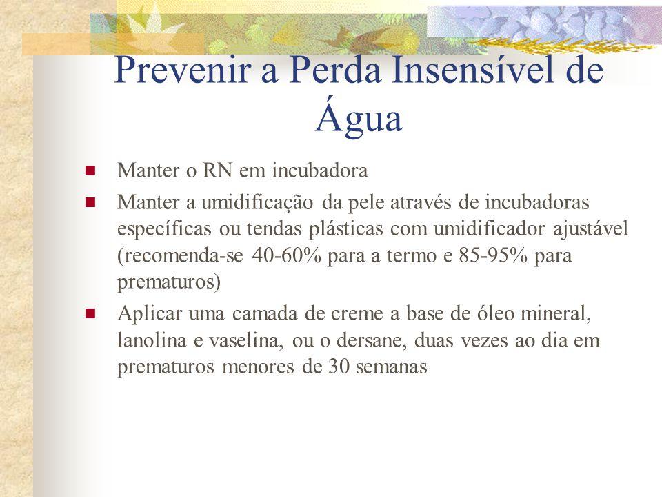 Prevenir a Perda Insensível de Água