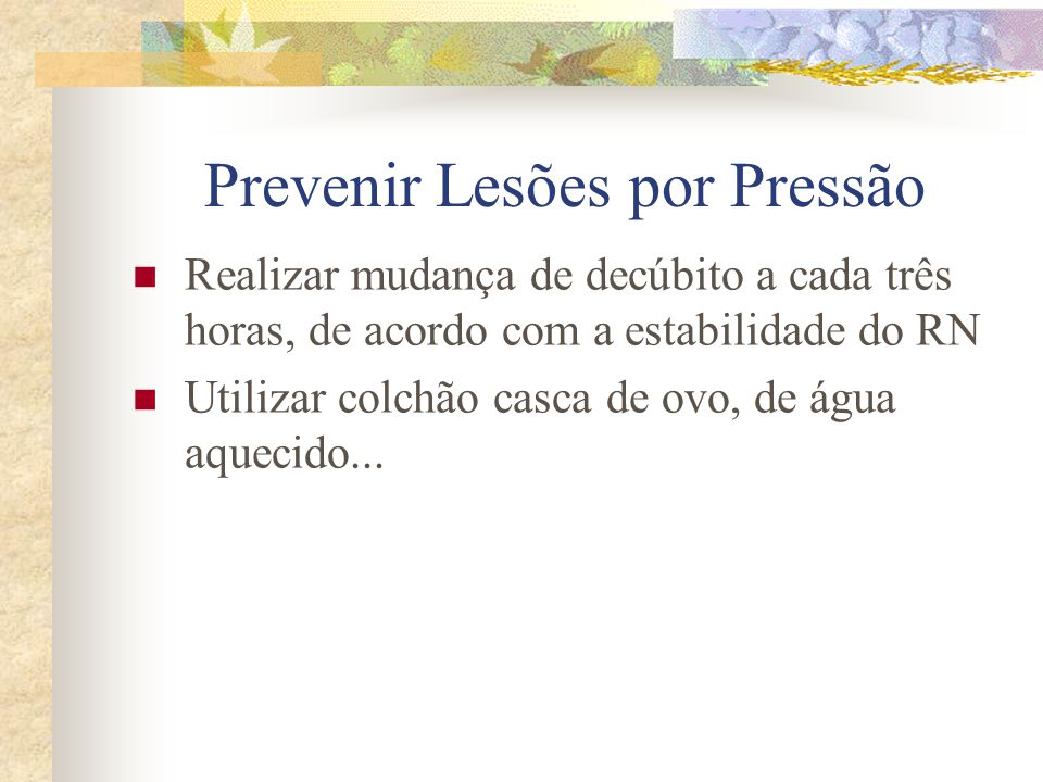 Prevenir Lesões por Pressão