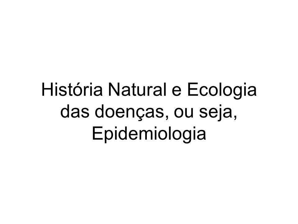 História Natural e Ecologia das doenças, ou seja, Epidemiologia