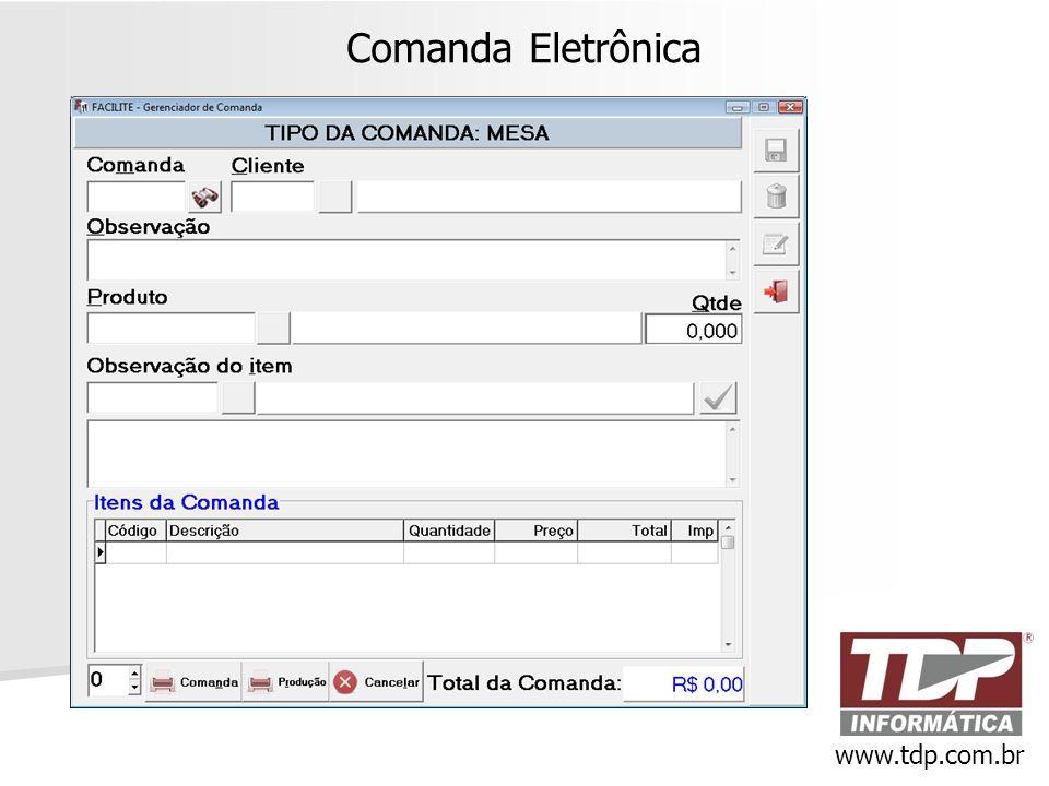 Comanda Eletrônica www.tdp.com.br
