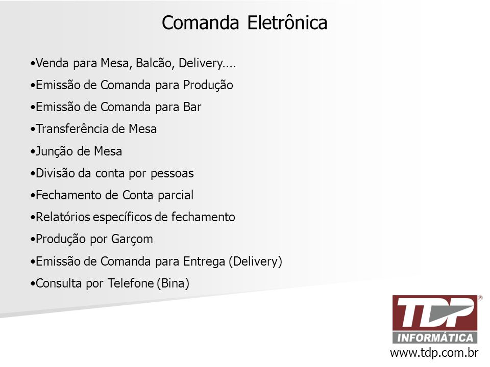 Comanda Eletrônica Venda para Mesa, Balcão, Delivery....