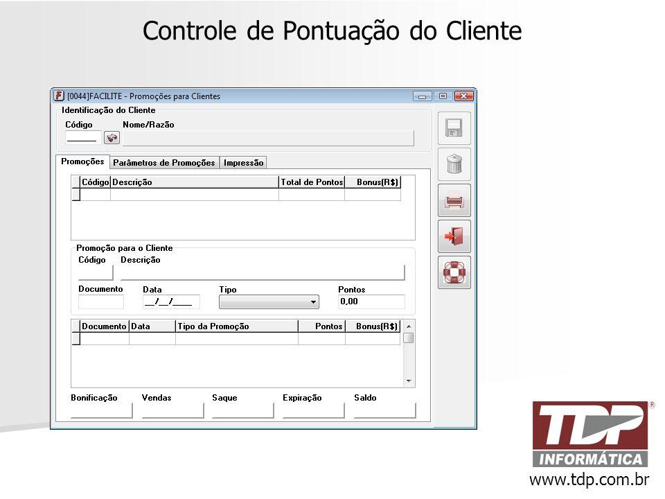 Controle de Pontuação do Cliente