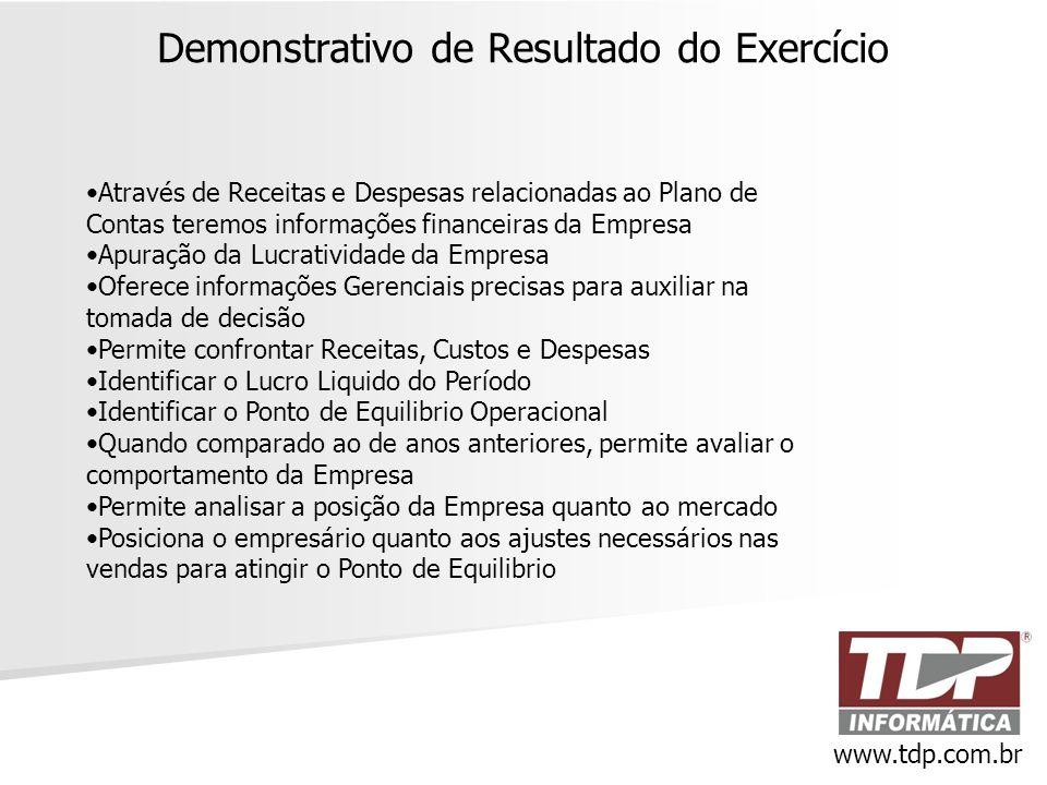 Demonstrativo de Resultado do Exercício