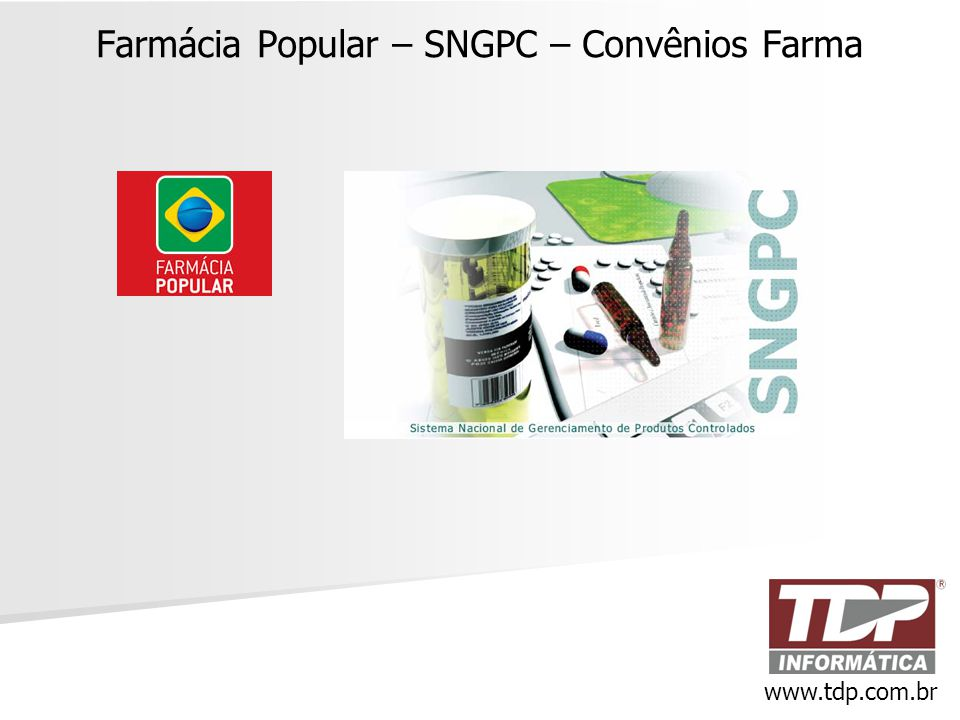 Farmácia Popular – SNGPC – Convênios Farma