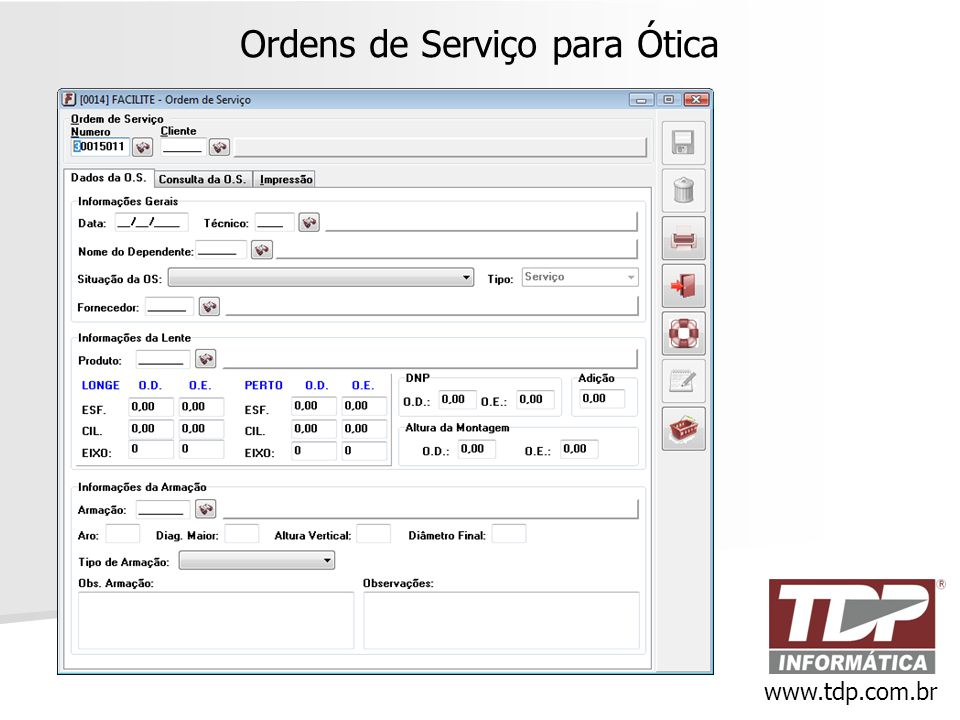 Ordens de Serviço para Ótica