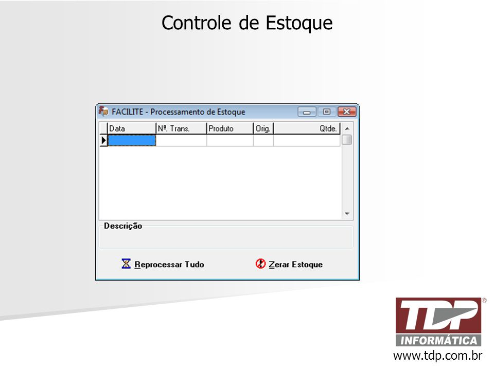 Controle de Estoque www.tdp.com.br
