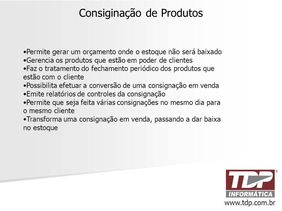 Consiginação de Produtos