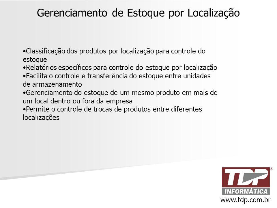Gerenciamento de Estoque por Localização