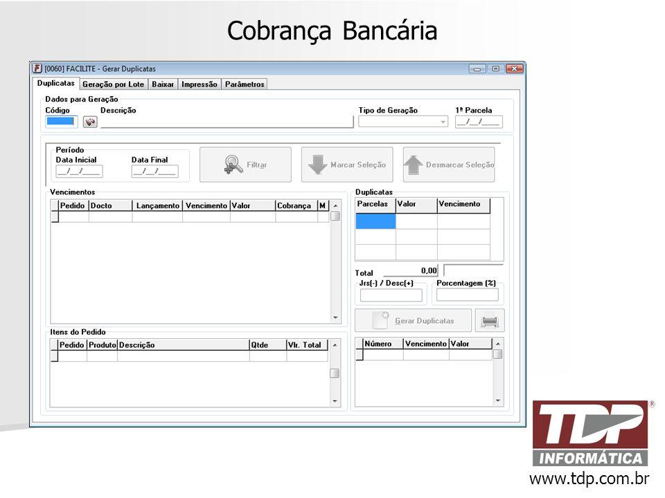 Cobrança Bancária www.tdp.com.br