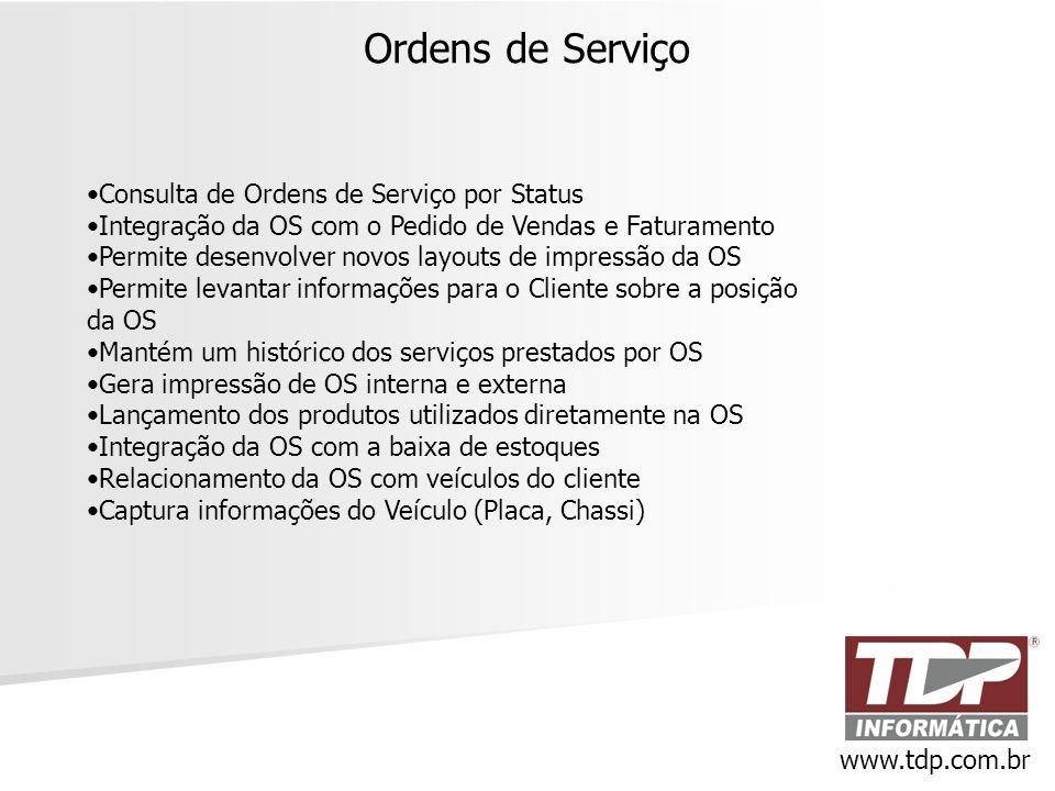 Ordens de Serviço Consulta de Ordens de Serviço por Status