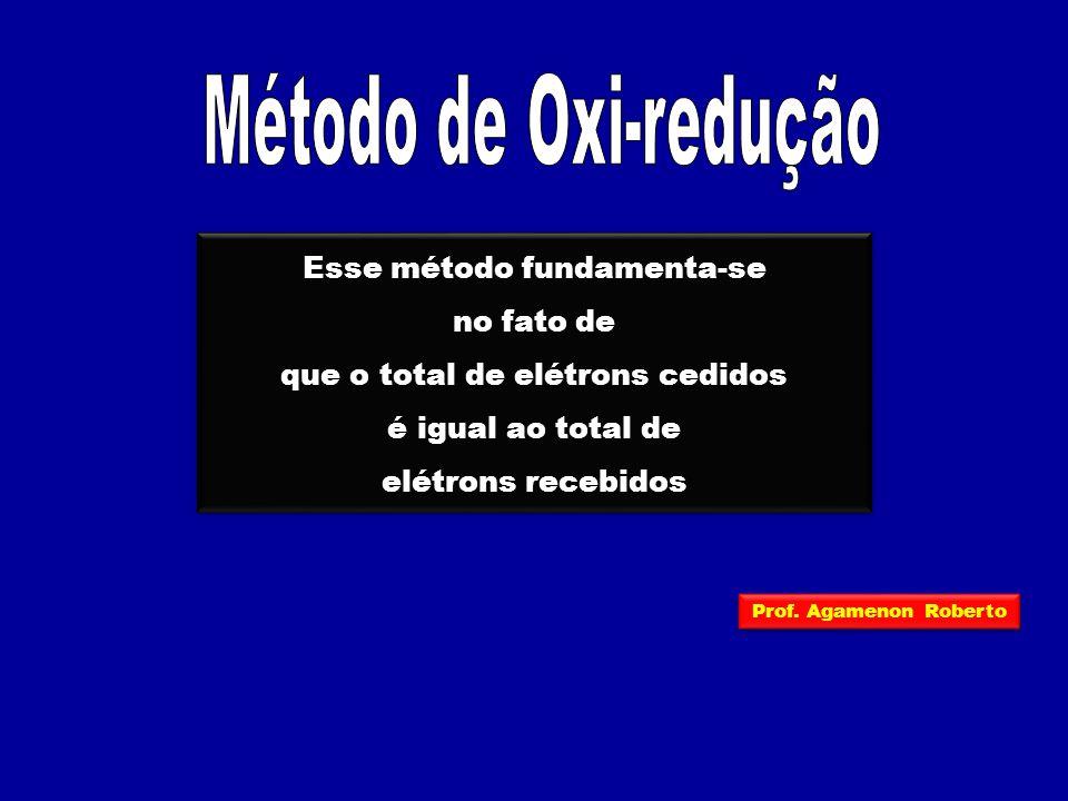 Método de Oxi-redução Esse método fundamenta-se no fato de