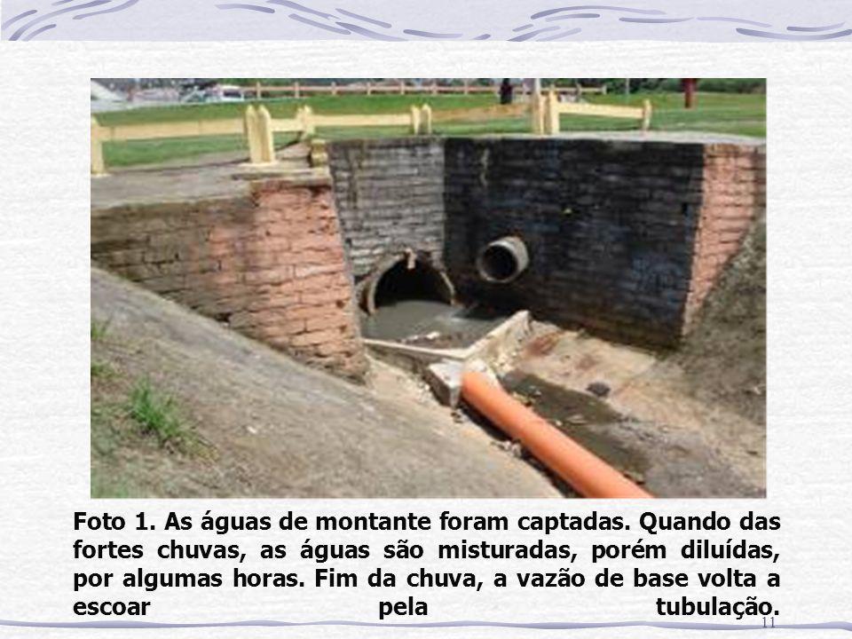 Foto 1. As águas de montante foram captadas