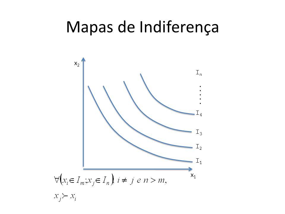 Mapas de Indiferença x1 x2 In ..... I4 I3 I2 I1