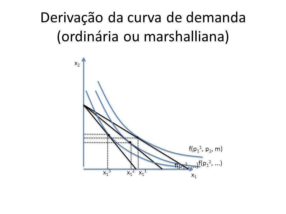 Derivação da curva de demanda (ordinária ou marshalliana)