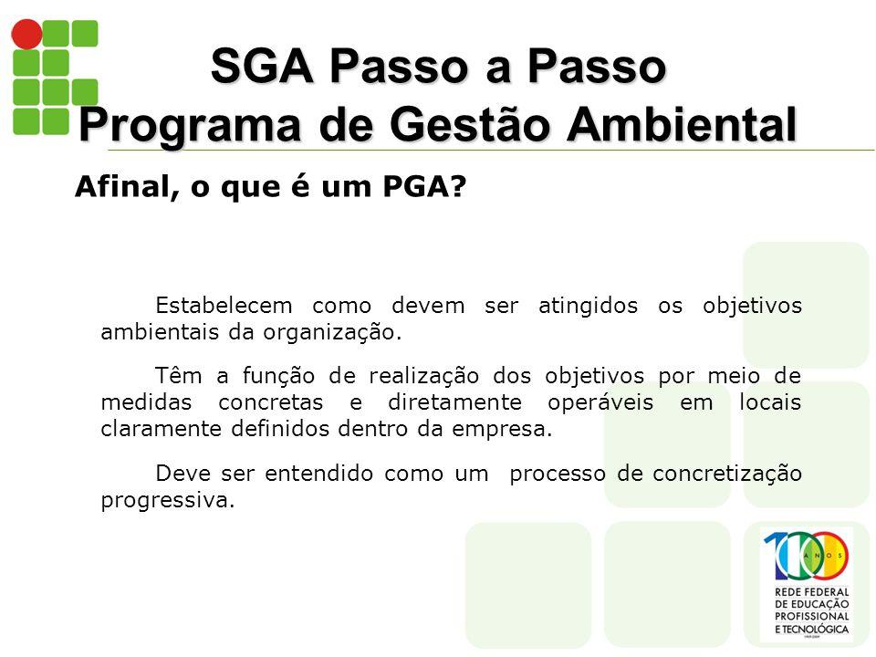 SGA Passo a Passo Programa de Gestão Ambiental