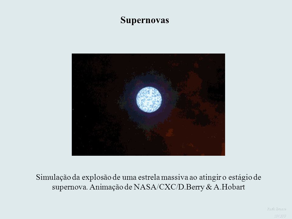 Supernovas Simulação da explosão de uma supernova.